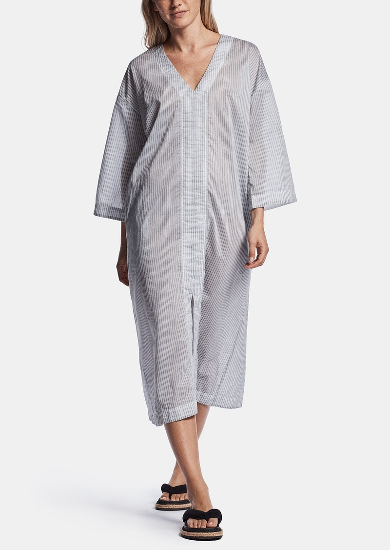 James Perse STRIPED ORGANZA CAFTAN