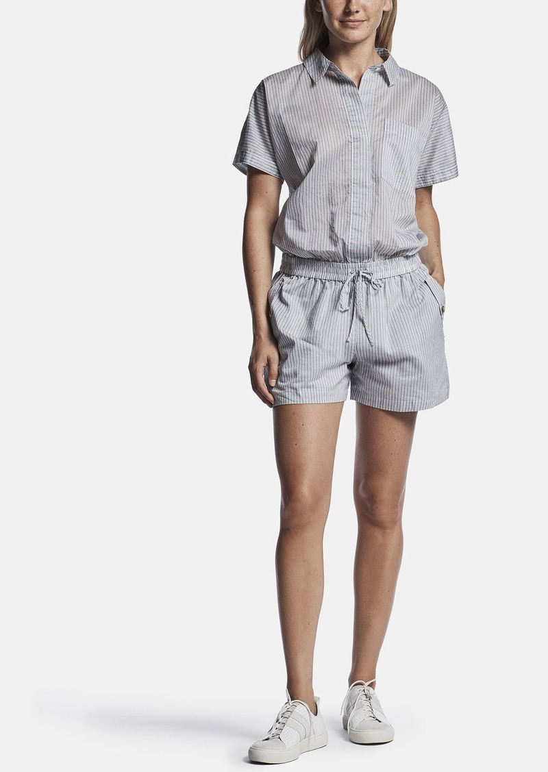 James Perse STRIPED ORGANZA ROMPER