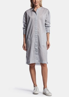 James Perse STRIPED ORGANZA SHIRT DRESS