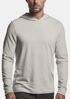 James Perse SUEDED STRETCH JERSEY HOODIE
