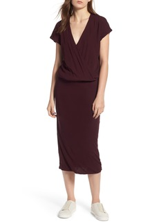 James Perse Surplice Jersey Blouson Dress
