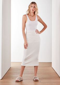 James Perse TECHNICAL JERSEY RIBBED SKIRT