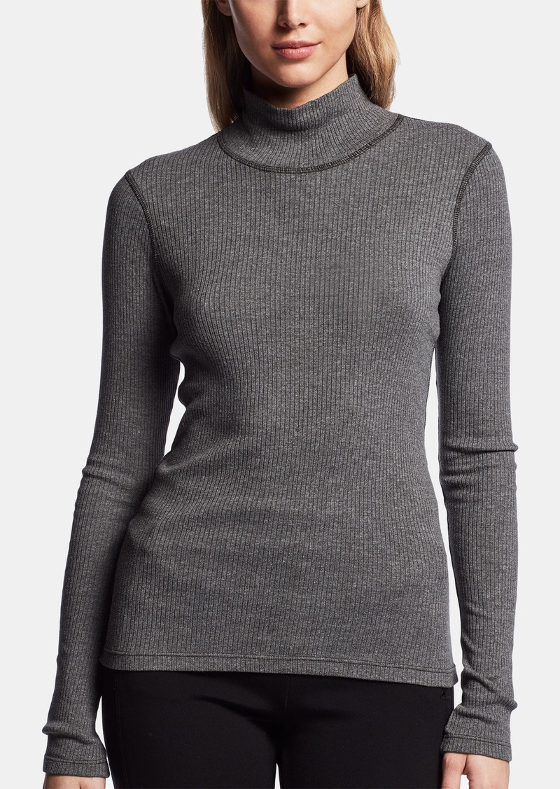 James Perse TECHNICAL JERSEY RIBBED TURTLENECK