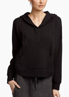 James Perse TEXTURED CASHMERE HOODED SWEATER