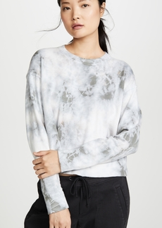 James Perse Tie Dye Cropped Pullover