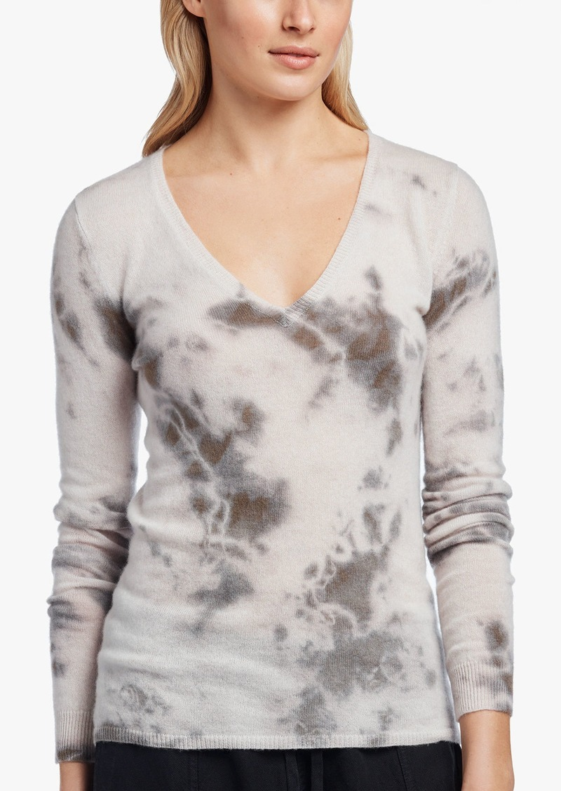 James Perse TIE DYED CASHMERE SWEATER