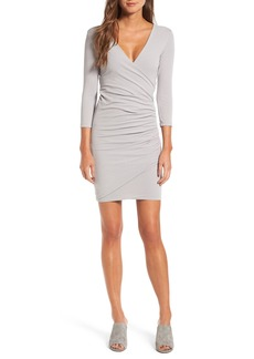 James Perse Tucked Faux Wrap Dress