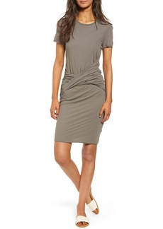 James Perse Twisted Drape T-Shirt Dress