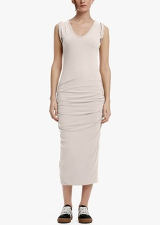 James Perse TWISTED SLEEVE SKINNY DRESS