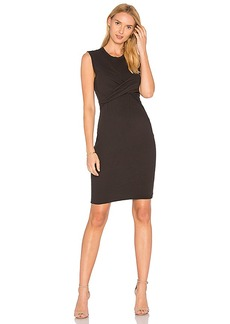 James Perse Twisted Tube Dress in Black. - size 0 (XXS/XS) (also in 1 (XS/S),2 (S/M),3 (M/L),4 (L/XL))