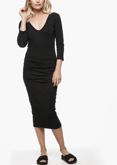 James Perse V-NECK SKINNY DRESS
