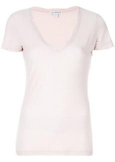 James Perse v-neck T-shirt - Pink & Purple