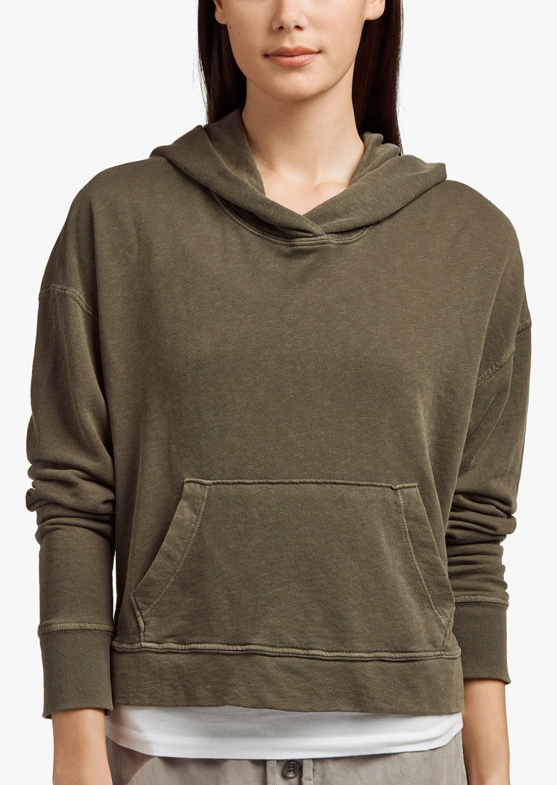 James Perse VINTAGE FLEECE CROPPED HOODIE