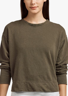 James Perse VINTAGE FLEECE CROPPED SWEATSHIRT