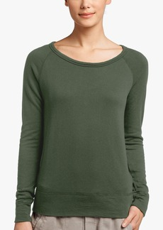 James Perse VINTAGE FLEECE LONG SLEEVE SWEATSHIRT