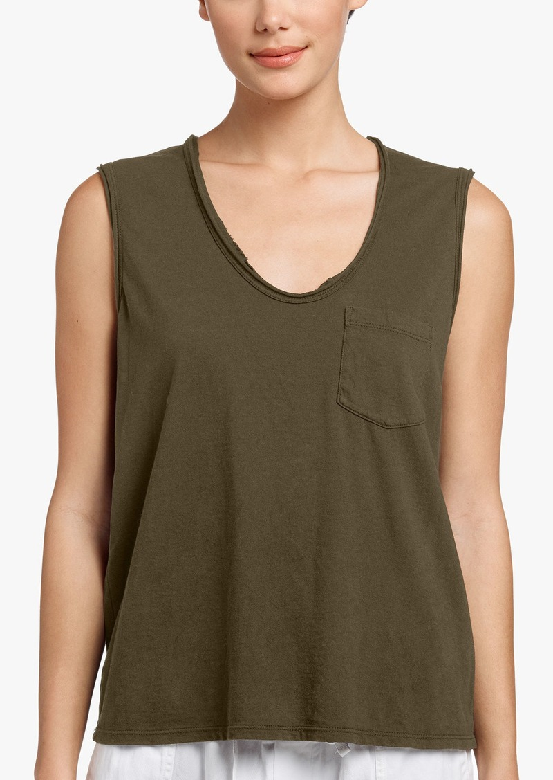 James Perse VINTAGE POCKET TANK