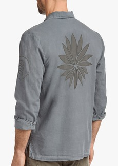 James Perse VOILE EMBROIDERED LOTUS SHIRT
