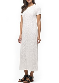 James Perse 'Web Jersey' Short Sleeve Maxi Dress