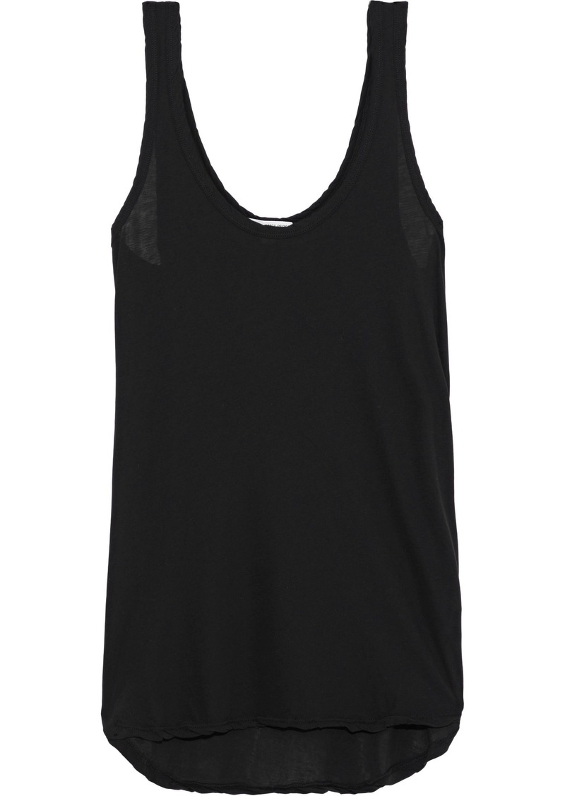 James Perse Woman Cotton-jersey Tank Black