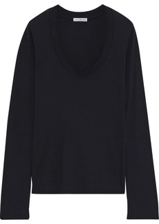James Perse Woman Cotton-jersey Top Black