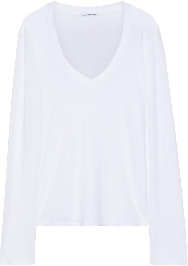 James Perse Woman Cotton-jersey Top White