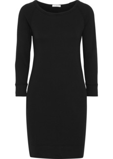 James Perse Woman French Supima Cotton-terry Mini Dress Black