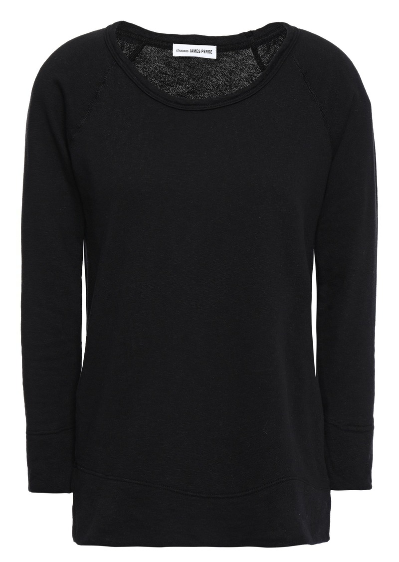 James Perse Woman French Supima Cotton-terry Top Black