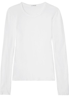 James Perse Woman Little Boy Brushed Cotton-jersey Top White
