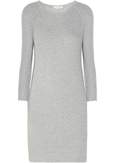 James Perse Woman Mélange French Cotton-terry Mini Dress Stone