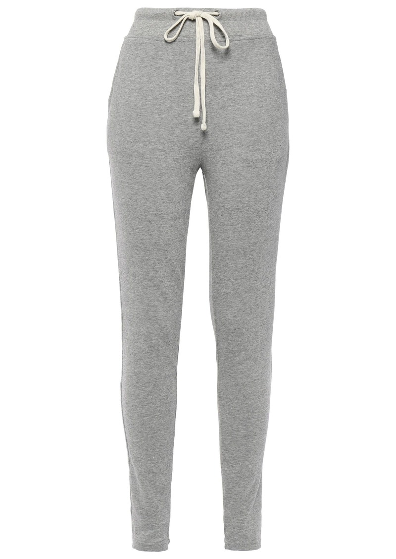 James Perse Woman Mélange French Cotton-terry Track Pants Stone
