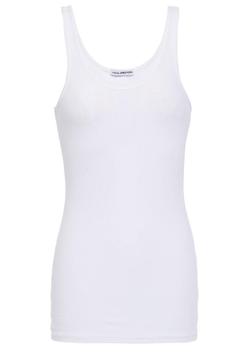James Perse Woman Ribbed Stretch Supima Cotton Tank White
