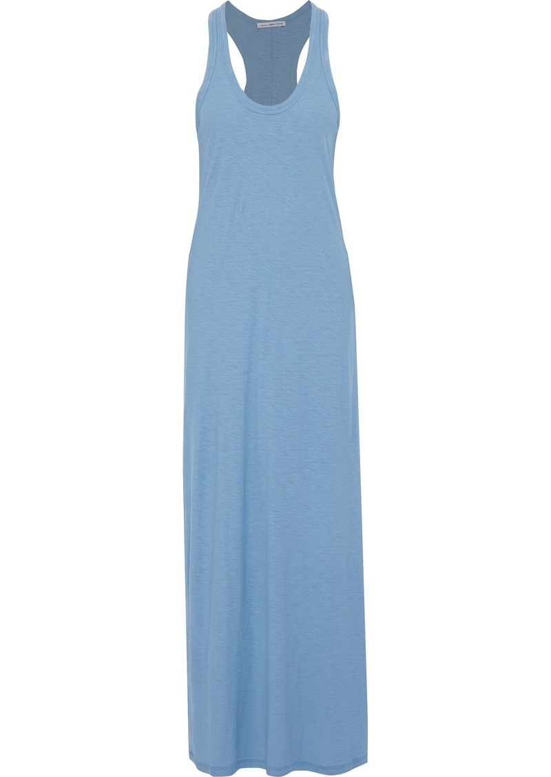 James Perse Woman Slub Cotton And Modal-blend Jersey Maxi Dress Light Blue