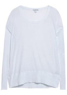 James Perse Woman Slub Cotton-jersey Top White