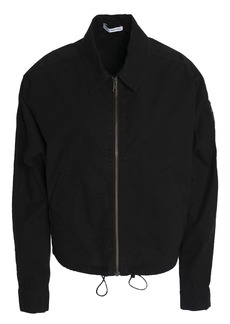 James Perse Woman Stretch Cotton-shell Jacket Black