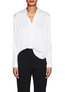 James Perse Women's Polished Twill Blouse