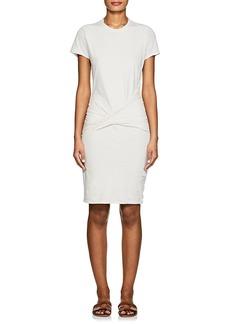 James Perse Women's Twist-Front Cotton-Blend T-Shirt Dress