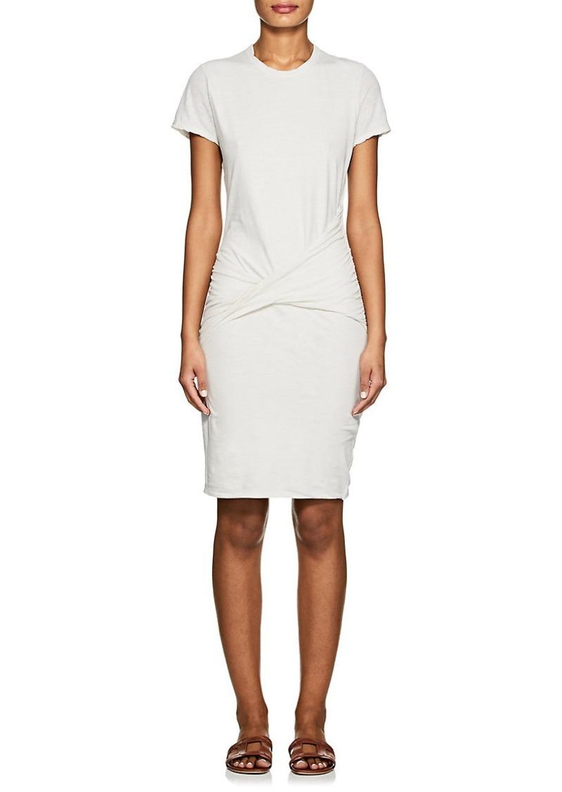 James Perse James Perse Women s Twist-Front Cotton-Blend T-Shirt ... f68eb8505