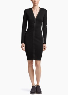 James Perse ZIP FRONT FITTED DRESS