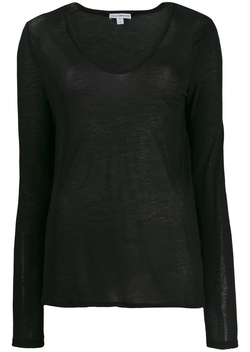 James Perse lightweight jersey top