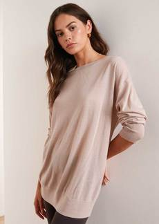 James Perse Lightweight Reverse Cashmere Sweater - Dusty Pink