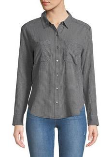 James Perse Little Boy Check Button-Down Shirt