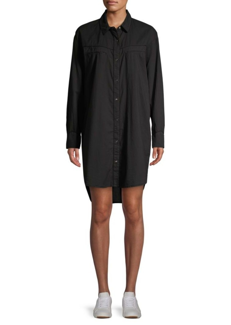 James Perse Long-Sleeve Cotton Shirtdress