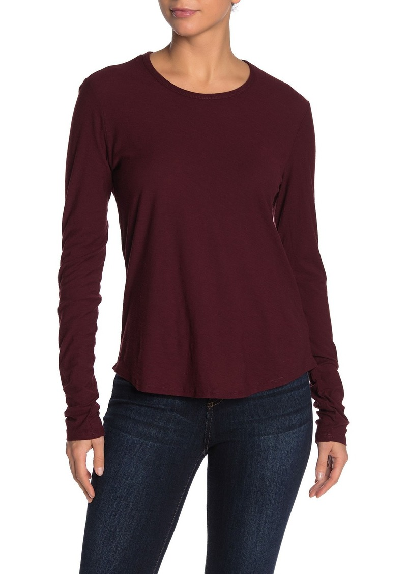 James Perse Long Sleeve Crew Neck T-Shirt