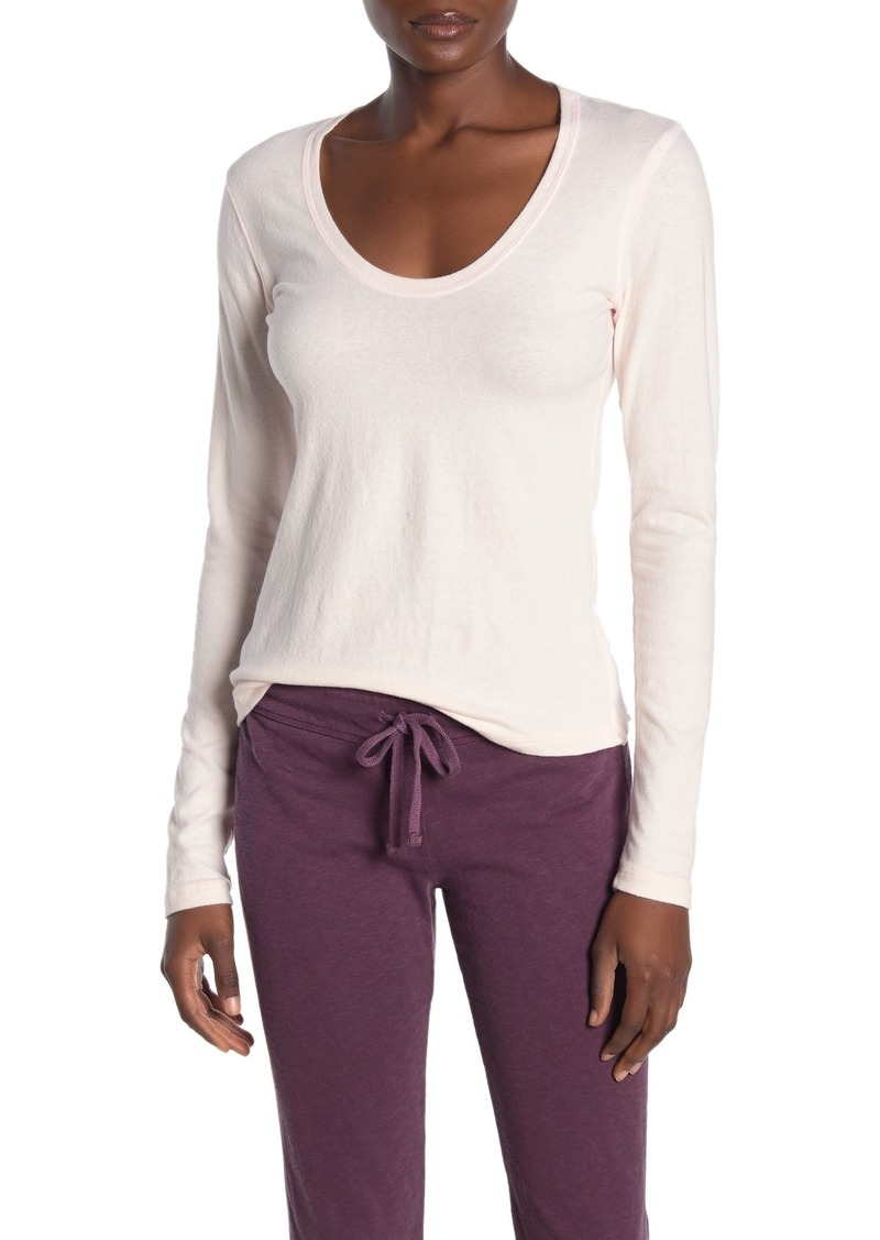 James Perse Long Sleeve Scoop Neck T-Shirt