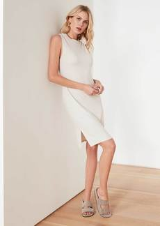 James Perse Micro Sueded Tank Dress - Stone