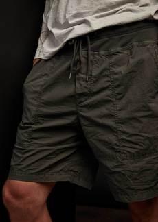 James Perse Mixed Media Stretch Poplin Short - Marsh Pigment