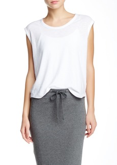 James Perse Solid Cap Sleeve T-Shirt