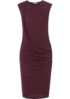 James Perse Nomad Draped Cotton-jersey Dress