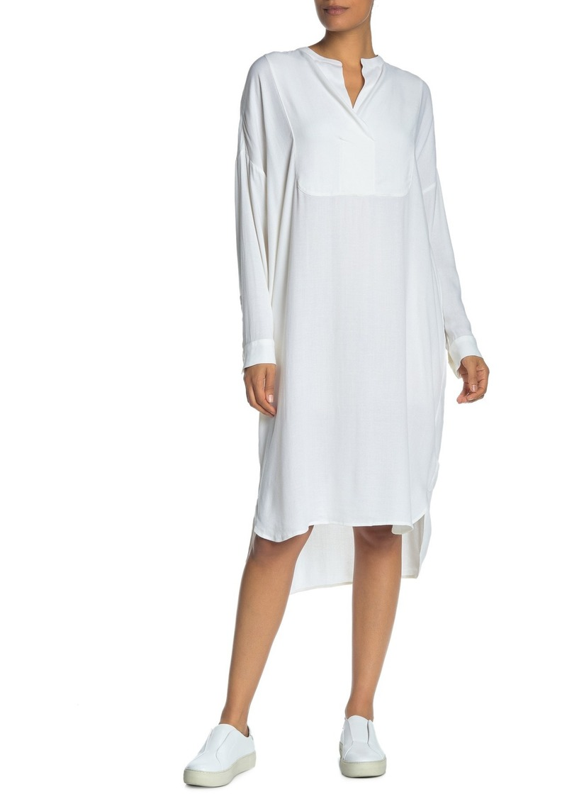James Perse Oversize Tuxedo Shirt Dress