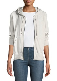 James Perse Palm Trees Classic Zip Hoodie